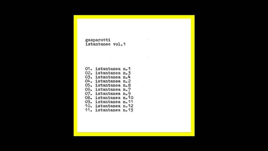 Gabriele Gasparotti - Istantanee vol.1 Radioaktiv