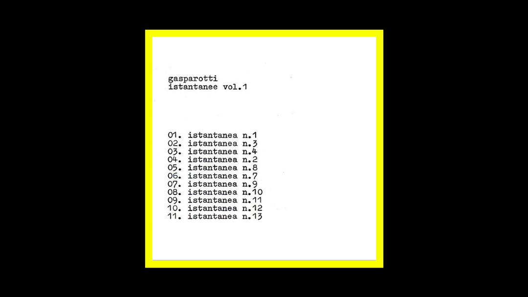 Gabriele Gasparotti – Istantanee vol.1