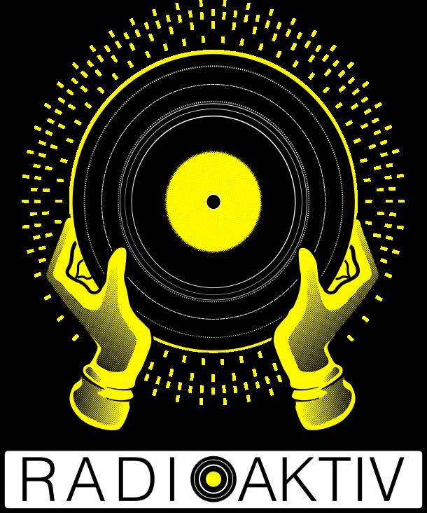 Logo con lettering sfondo trasparente radioaktiv